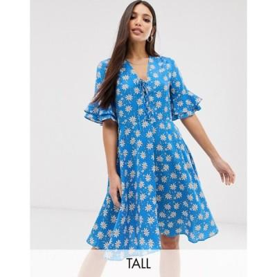 ワイエーエス レディース ワンピース トップス Y.A.S Tall printed tea dress