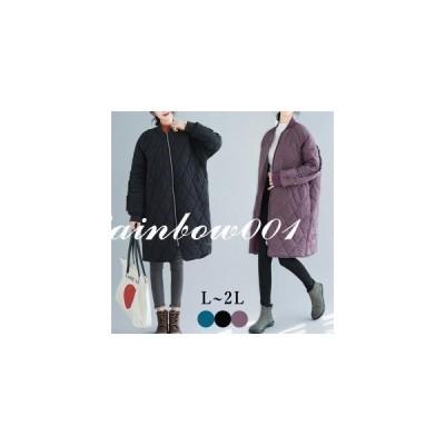 【セール】キルティング中綿コート カーディガン SI レディース  ロングコート  ロング  ミディアム  カジュアル 軽い 暖かい ゆったり