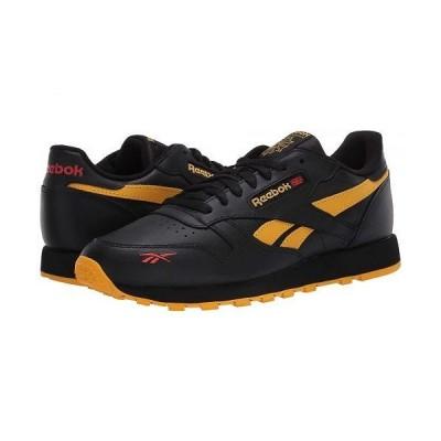 Reebok リーボック メンズ 男性用 シューズ 靴 スニーカー 運動靴 Classic Leather MU - Black/Fierce Gold/Radiant Red