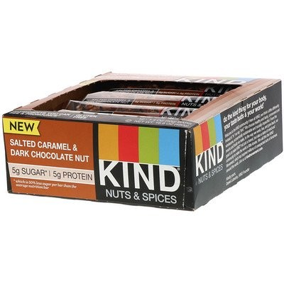 Nuts & Spices, Salted Caramel & Dark Chocolate Nut, 12 Bars, 1.4 oz (40 g) Each