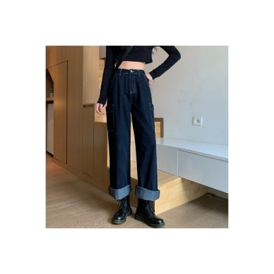 【送料無料】秋服 女性のジーンズ 年 韓国風 ファッション ポップ モップパンツ ス | 364331_A63733-8865113