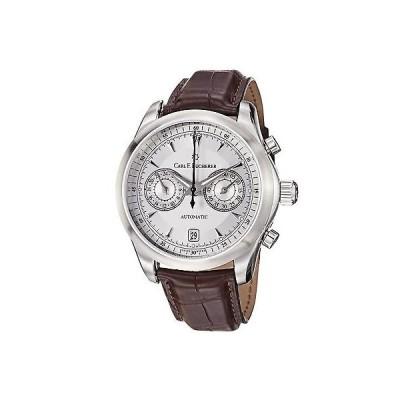 腕時計 カールブヘラ Carl F. Bucherer メンズ 'Manero' シルバー ダイヤル ブラウン クロノグラフ 腕時計