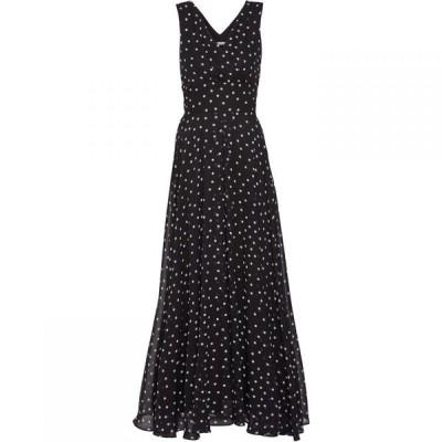 ジーナ バッコーニ Gina Bacconi レディース ワンピース ワンピース・ドレス Calandra Chiffon Maxi Dress Black and White