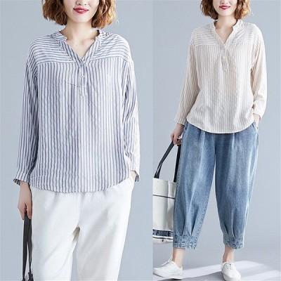春夏新作 ファッショントップス アンズ/ダークブルー2色展開