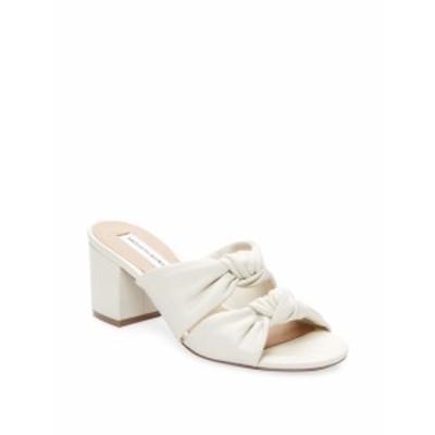サックスフィフスアベニュー レディース シューズ サンダル Knot Leather Mid Heel Sandal