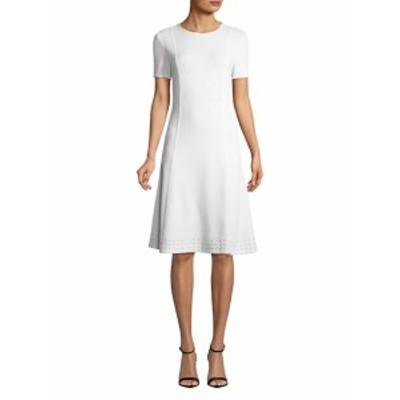 セント ジョン レディース ワンピース Sequin Border Fit-And-Flare Dress