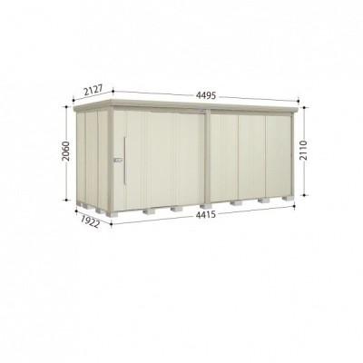 物置 屋外 おしゃれ タクボ物置 ND/ストックマン ND-4419 一般型 標準屋根 『追加金額で工事可能』 ムーンホワイト