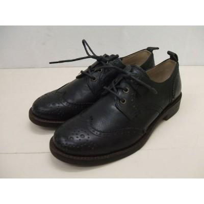 TODAY'S/5528/メダリオン/ウィングチップシューズ/ブラック/サイズ24.5/靴/トゥデイズ【中古】【レディース】【geejee_1997】0-0913G♪