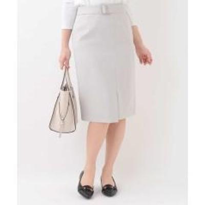 OFUON(オフオン)【セットアップ対応/洗える】ラップ風スカート【お取り寄せ商品】