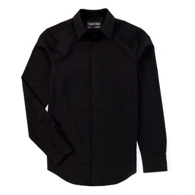 カルバンクライン メンズ シャツ トップス Move Solid Performance Stretch Long-Sleeve Woven Shirt Black