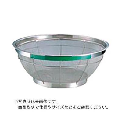 TKG NEWマンモス カラー 浅型ざる 43cm グリーン AZL4744 ( AZL4744 ) 遠藤商事(株)