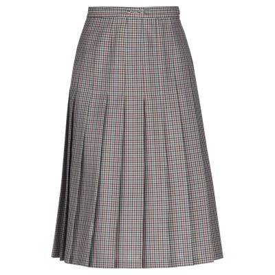 メゾン マルジェラ MAISON MARGIELA ひざ丈スカート グレー 40 ウール 74% / モヘヤ 20% / シルク 6% ひざ丈スカート