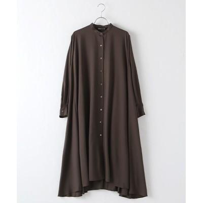 MARcourt/マーコート flared shirt OP brown FREE