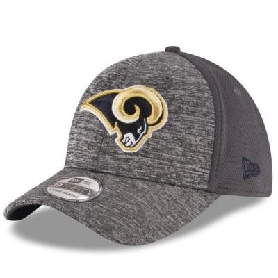 ユニセックス スポーツリーグ フットボール Los Angeles Rams New Era Shadowed Team 39THIRTY Flex Hat - Heathered Gray/Graphite 帽子