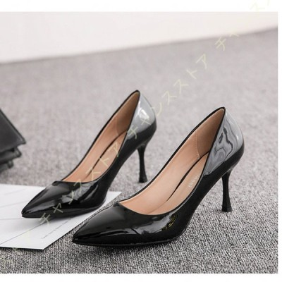 レディース パンプス ピンヒール ヒール 歩きやすい 疲れない 靴 pumps 甲浅 シンプル ハイヒール ポインテッドトゥ 小さいサイズ シューズ 卒業式 結婚式