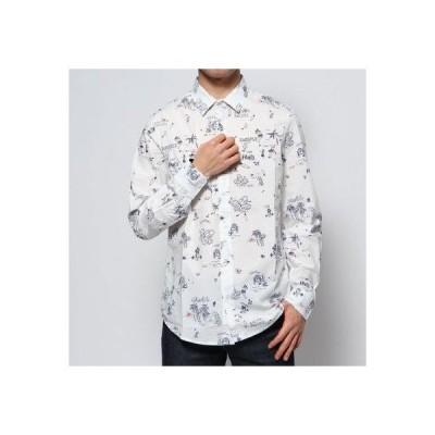 デシグアル Desigual シャツ長袖 EZRA (ホワイト)