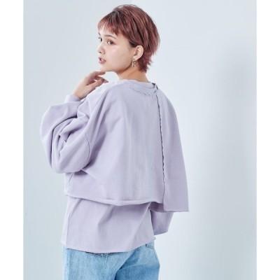 tシャツ Tシャツ カットオフロンTee+ノースリーブ アンサンブル