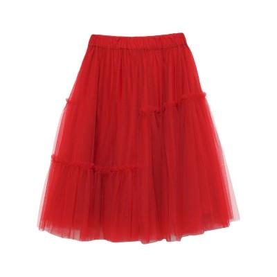 パロッシュ P.A.R.O.S.H. 7分丈スカート レッド S ナイロン 100% 7分丈スカート