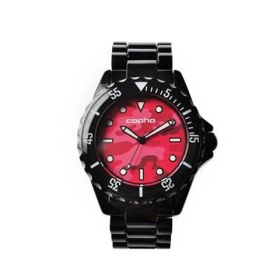 【メンズ】【レディース】北欧デザイン腕時計 Copha コプハ Swagger Camo スワッガーカモ Black-Red