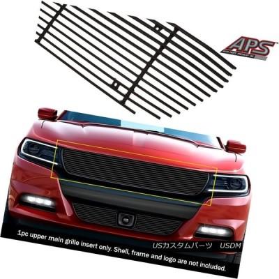 USグリル フィット2015-2018ダッジチャージャブラックメインアッパービレットグリルインサート Fits 2015-2018 Dodge Cha