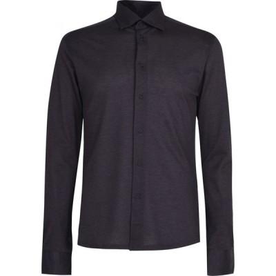 イートン Eton メンズ シャツ トップス Regular Pique Shirt Anthracite