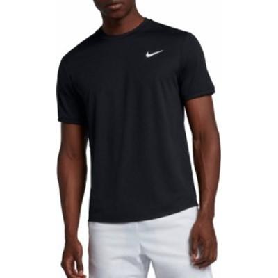 ナイキ メンズ Nike Men's NikeCourt Dri-FIT Tennis Shirt 半袖 BLACK/BLACK/WHITE