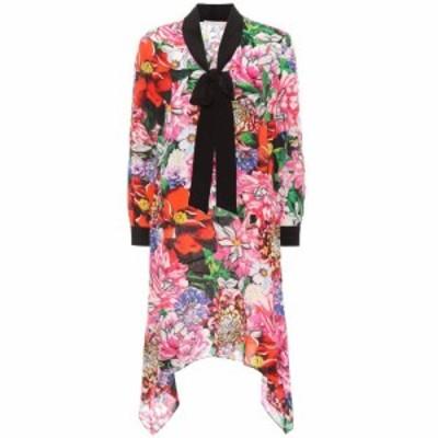 メアリー カトランズ Mary Katrantzou レディース ワンピース ワンピース・ドレス Hearts floral-printed silk dress Paint by Numbers R