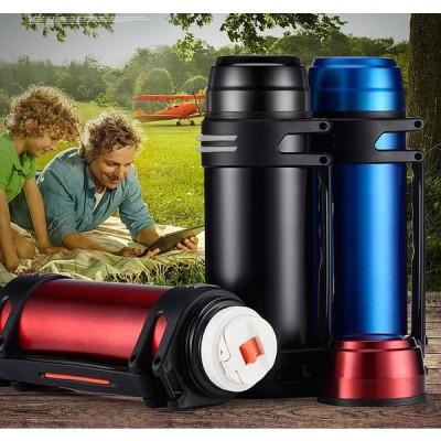 水筒 ステンレスボトル 保冷/保温対応 コップ ステンレス 大容量 直飲み 二重断熱構造 超軽量 車載 釣り 旅行用品 キャンプ