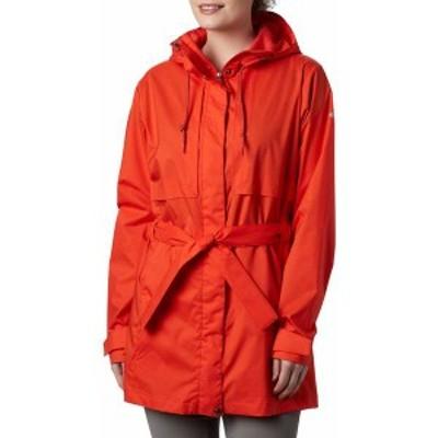 コロンビア レディース ジャケット・ブルゾン アウター Columbia Women's Pardon My Trench Rain Jacket Bold Orange
