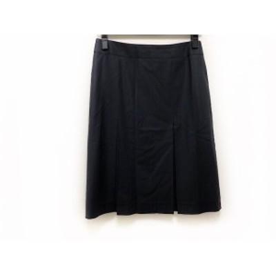 ニジュウサンク 23区 スカート サイズ38 M レディース 美品 ネイビー ストライプ【中古】20190828