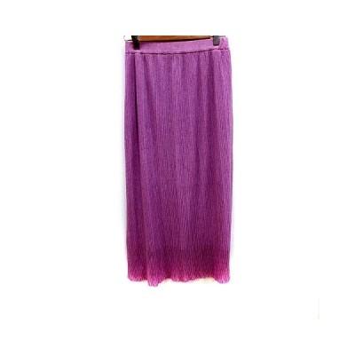 【中古】プロポーション ボディドレッシング PROPORTION BODY DRESSING スカート フレア マキシ FR 紫 パープル /RT レディース 【ベクトル 古着】