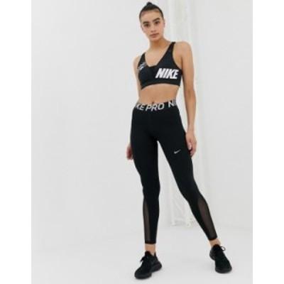 ナイキ レディース レギンス ボトムス Nike Pro Training leggings in black Black