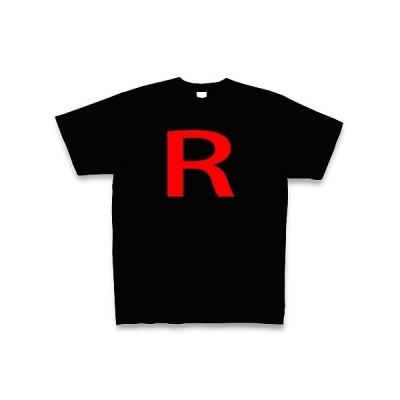 R Tシャツ Pure Color Print(ブラック)