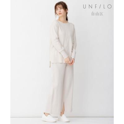 自由区 【UNFILO】QUATTRO SMOOTH コットン パンツ (ベージュ系)