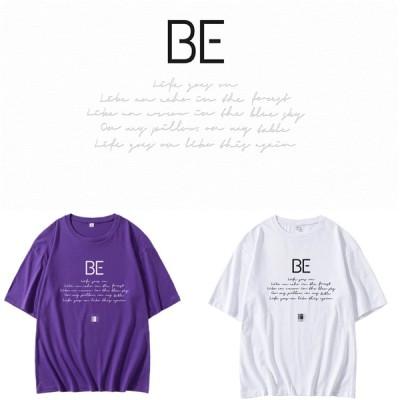 BTS   半袖tシャツ bts着用 男女兼用 韓国ファッション ペアールックカップル BTS服 防弾少年団 着用  04