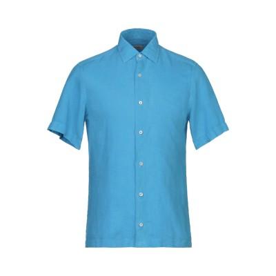 ZZEGNA シャツ アジュールブルー XL 麻 100% シャツ