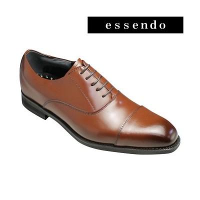 KNENFORD(ケンフォード)/牛革ビジネスウォーキングシューズ(ストレートチップ)/KN21(ブラウン)/4Eの幅広・軽量/メンズ 靴