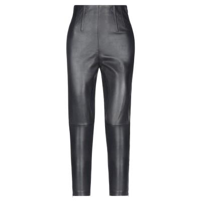 ピンコ PINKO パンツ ブラック 40 羊革(シープスキン) 100% / レーヨン / ナイロン / ポリウレタン パンツ