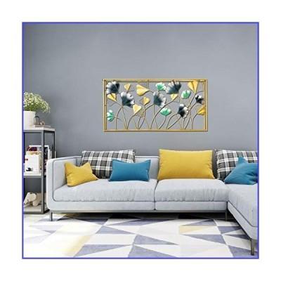 "Aurtem Home Wall Lavish D〓cor Metal Iron Ginkgo Biloba Leaf Hanging Decorative Wall Art Sculpture for Living Room Office ""W47xH24"""