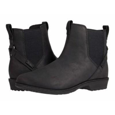 テバ レディース ブーツ・レインブーツ シューズ Ellery Pull-On Waterproof Black