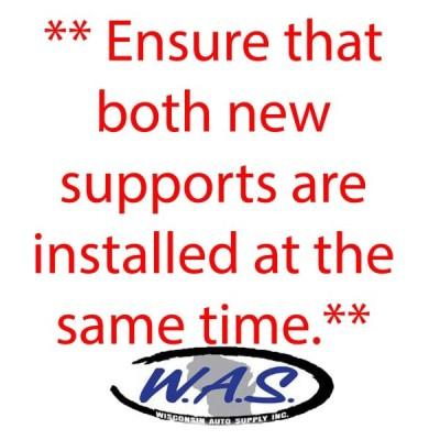 Wisconsin Auto Supply- Qty 2 Fits Hyundai Santa Fe Lift Supports 2007-