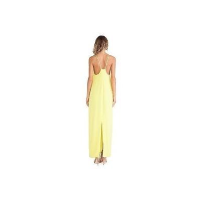 トリーナターク ドレスTRINA TURK レディース'S VINA SOLID HALTER CREPE MAXI ドレス IN KEY ライム 2