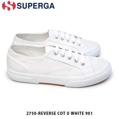 SUPERGA スペルガ メンズ レディース スニーカー 2750-REVERSE COT U WHITE 901 シューズ 通学 ホワイト 白 S1117WW S1117WW901 国内正規品