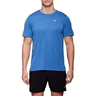 アシックス ASICS メンズ Tシャツ トップス Dorai Short-Sleeve T-Shirt Asics Blue Heather
