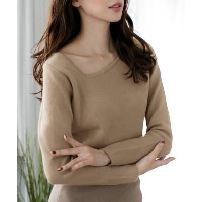 JULIA BOUTIQUE / 変形ネックニットトップス/20637 WOMEN トップス > ニット/セーター