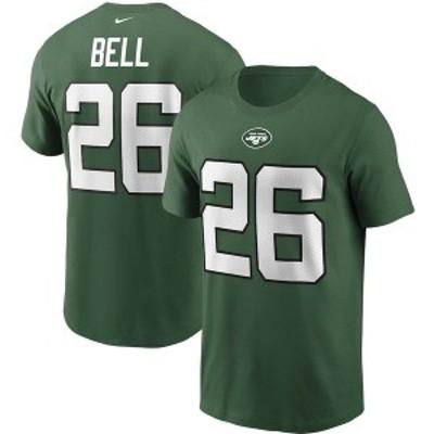 ナイキ メンズ Tシャツ トップス Le'Veon Bell New York Jets Nike Name & Number T-Shirt Green