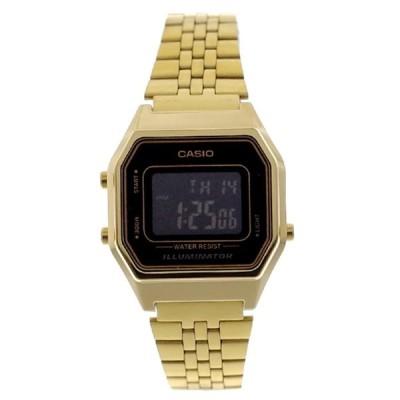 カシオ 腕時計 レディース CASIO ブラック ゴールド