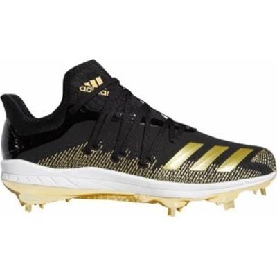 アディダス メンズ スニーカー シューズ adidas Men's adizero Afterburner 6 GOLD Metal Baseball Cleats Black/Gold