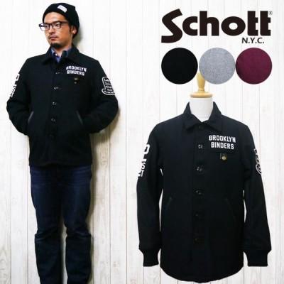 ショット Schott ショット メルトン バーシティ ジャケット アワードジャケット VARSITY JACKET BINDERS sch3142019