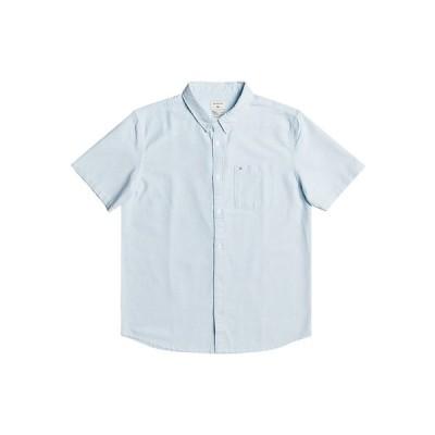 クイックシルバー シャツ トップス メンズ Men's Short Sleeve Oxford Shirt Dream Blue